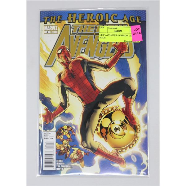 NEW AVENGERS #4 HEROIC AGE KEY ISSUE