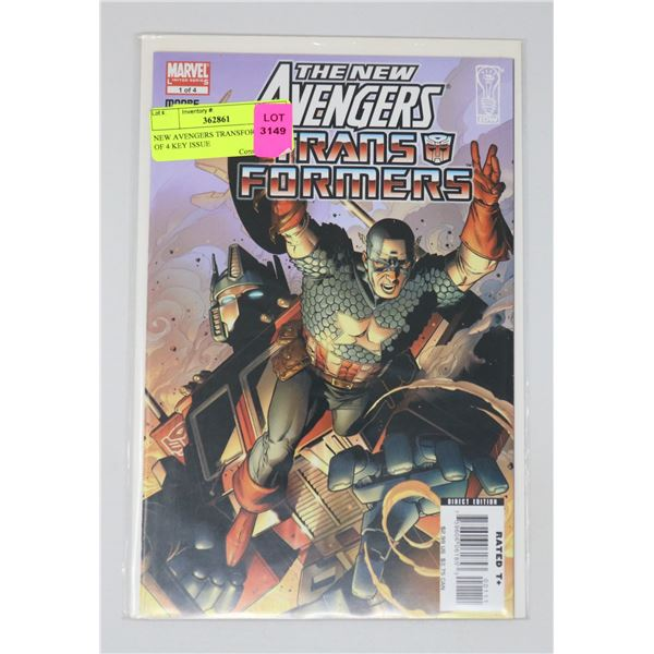 NEW AVENGERS TRANSFORMERS #1 OF 4 KEY ISSUE