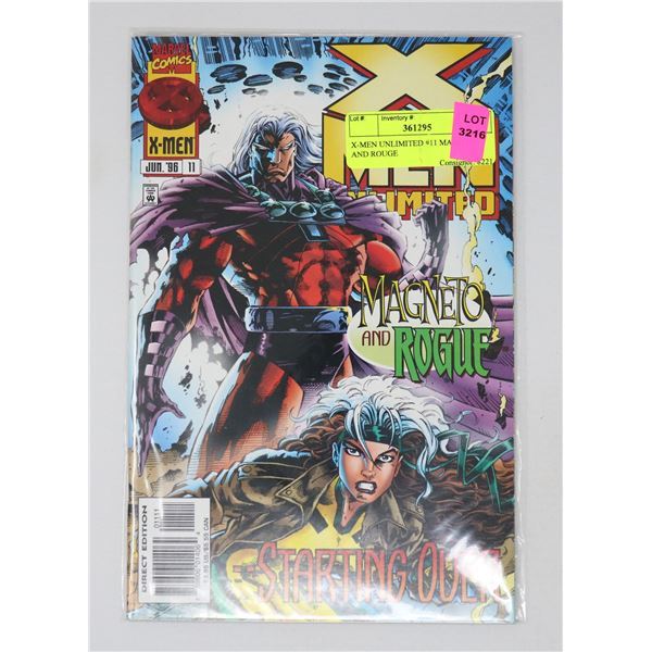 X-MEN UNLIMITED #11 MAGNETO AND ROUGE