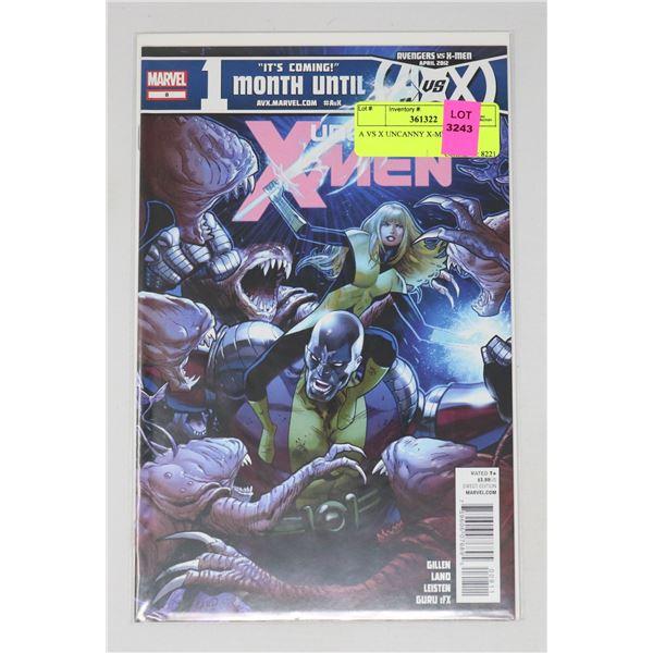 A VS X UNCANNY X-MEN #8