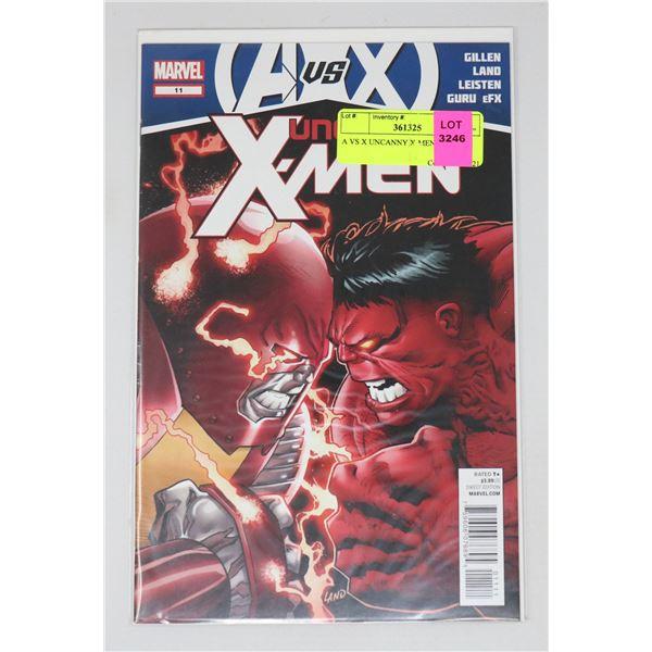 A VS X UNCANNY X-MEN #11