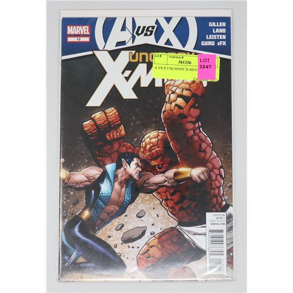 A VS X UNCANNY X-MEN #12