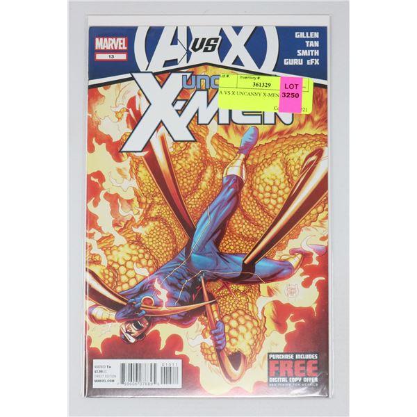 A VS X UNCANNY X-MEN #13