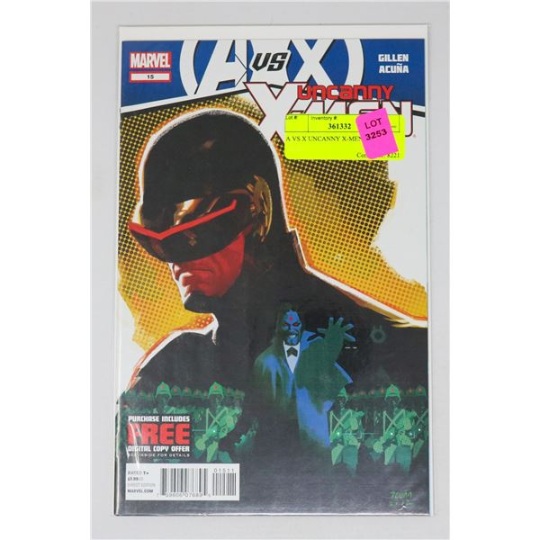 A VS X UNCANNY X-MEN #15