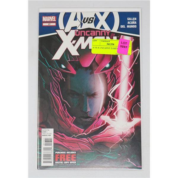A VS X UNCANNY X-MEN #17