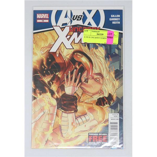 A VS X UNCANNY X-MEN #18