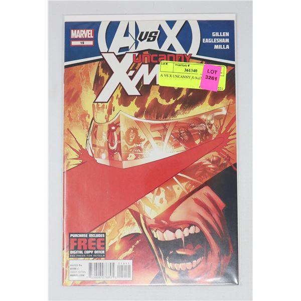 A VS X UNCANNY X-MEN #19