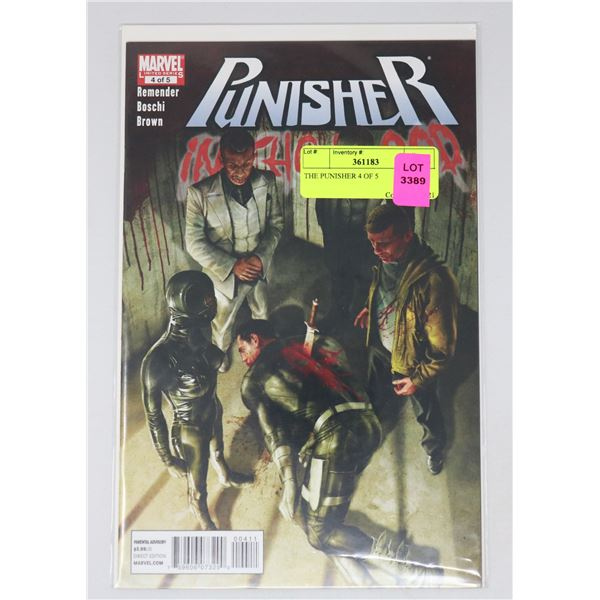 THE PUNISHER 4 OF 5