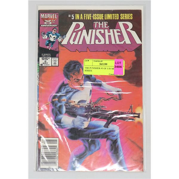 THE PUNISHER #5 OF 5 IN MINI SERIES