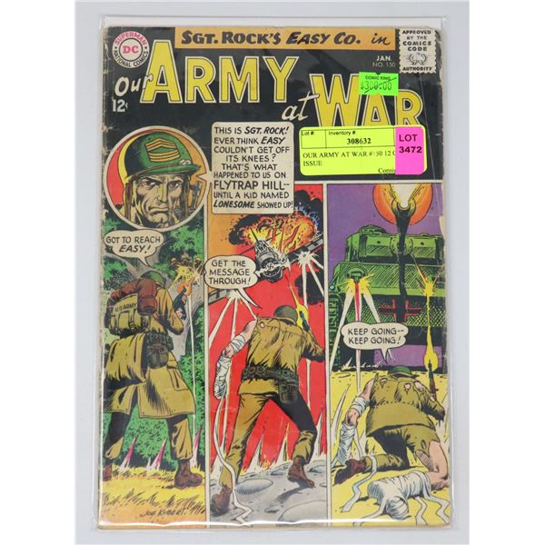 OUR ARMY AT WAR #150 12 CENT ISSUE