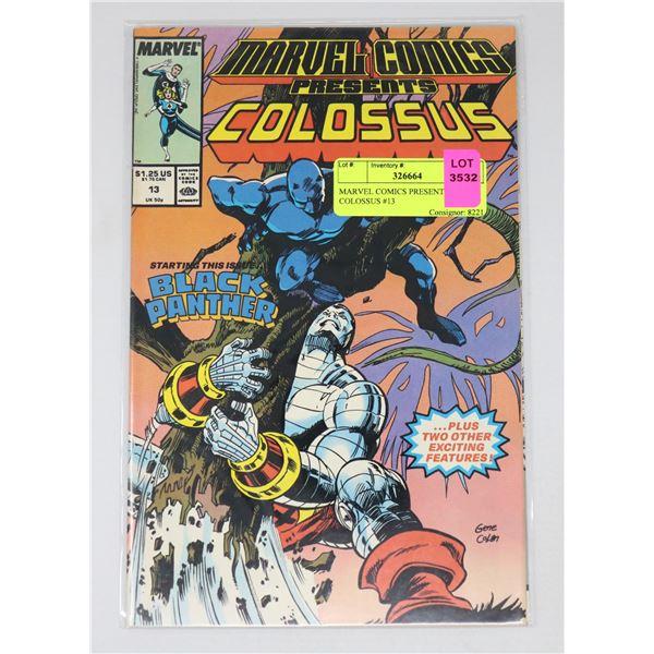 MARVEL COMICS PRESENTS COLOSSUS #13