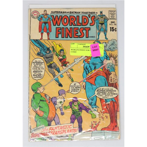 WORLD'S FINEST #190 15 CENT COMIC