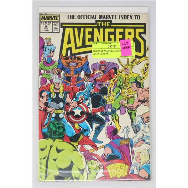 OFFICIAL MARVEL INDEX TO THE AVENGERS #6