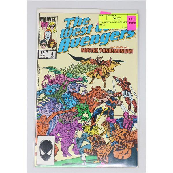 THE WEST COAST AVENGERS #4 KEY ISSUE