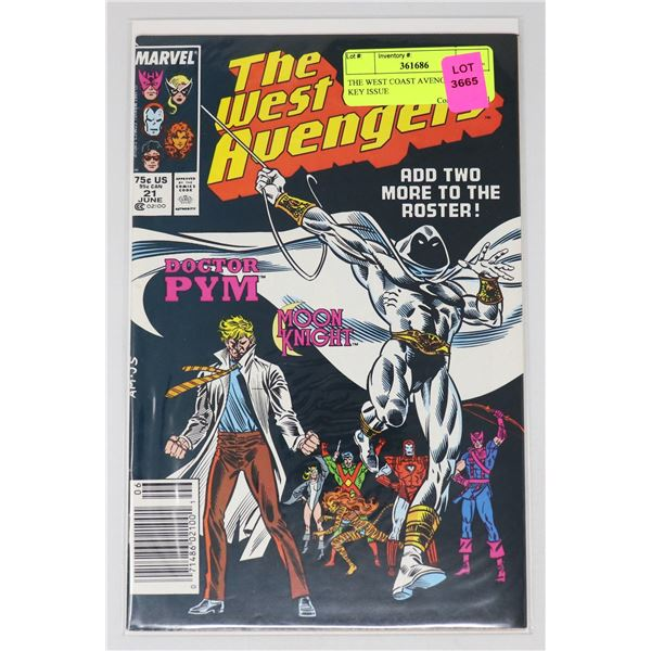 THE WEST COAST AVENGERS #21 KEY ISSUE