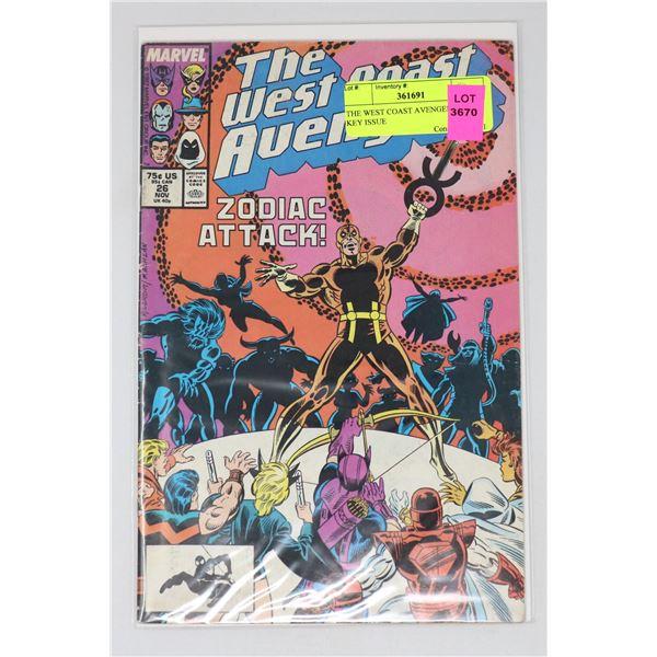 THE WEST COAST AVENGERS #26 KEY ISSUE