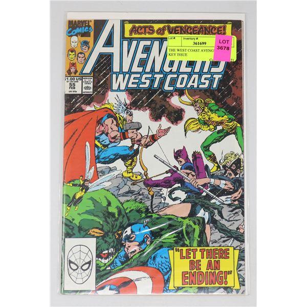 THE WEST COAST AVENGERS #55 KEY ISSUE