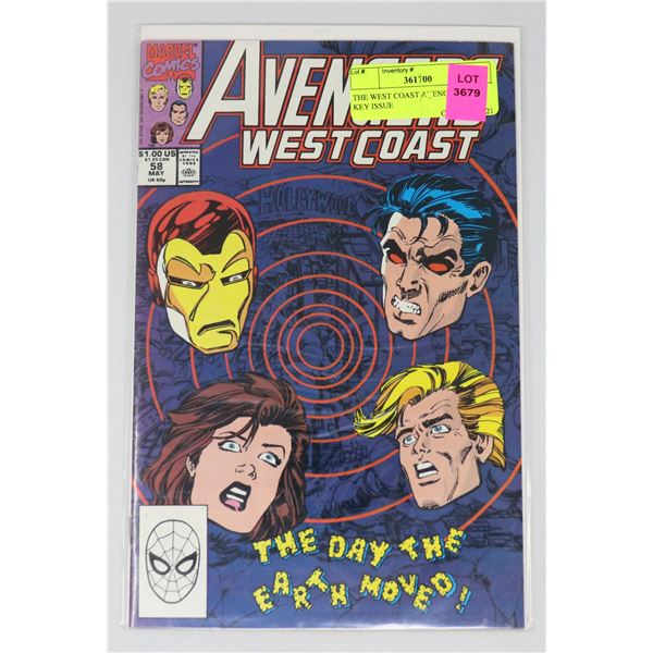 THE WEST COAST AVENGERS #58 KEY ISSUE