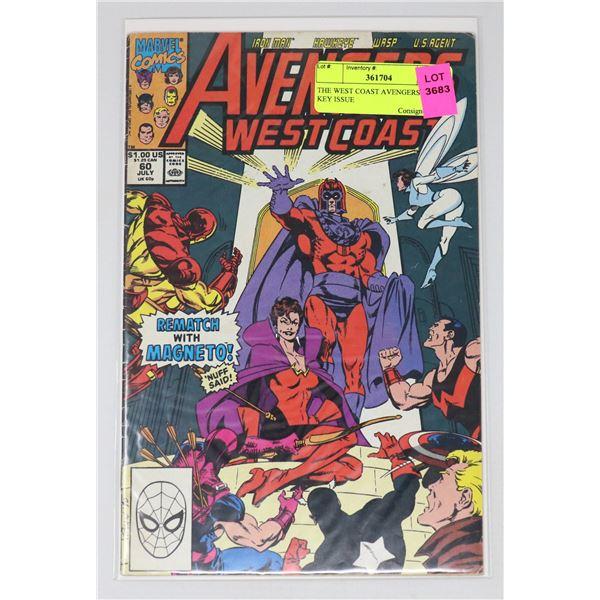 THE WEST COAST AVENGERS #60 KEY ISSUE