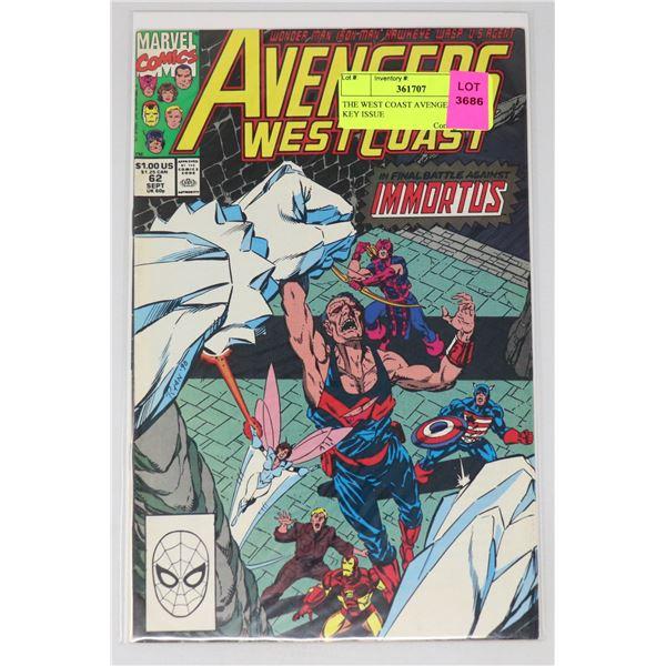 THE WEST COAST AVENGERS #62 KEY ISSUE
