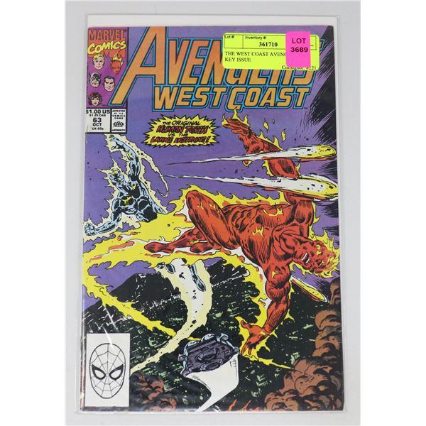 THE WEST COAST AVENGERS #63 KEY ISSUE
