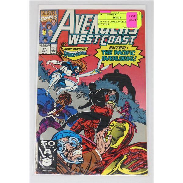 THE WEST COAST AVENGERS #70 KEY ISSUE