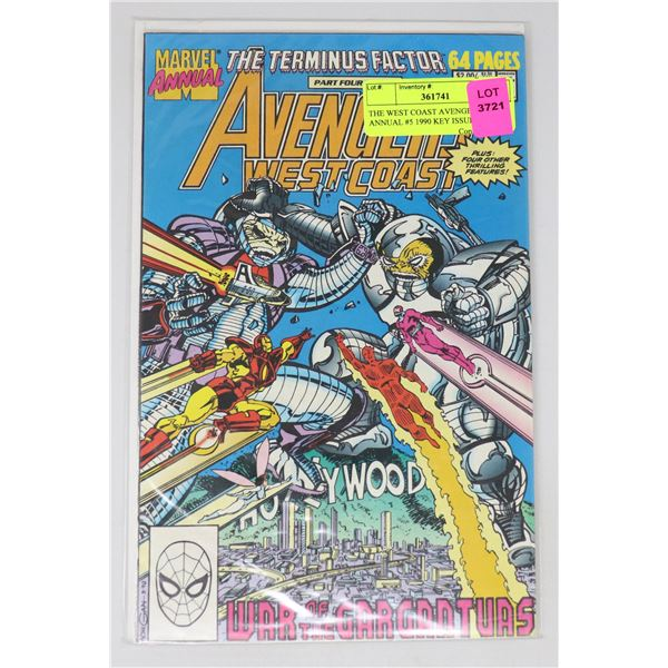 THE WEST COAST AVENGERS ANNUAL #5 1990 KEY ISSUE