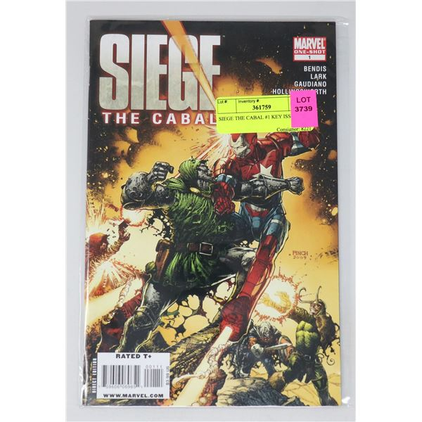 SIEGE THE CABAL #1 KEY ISSUE