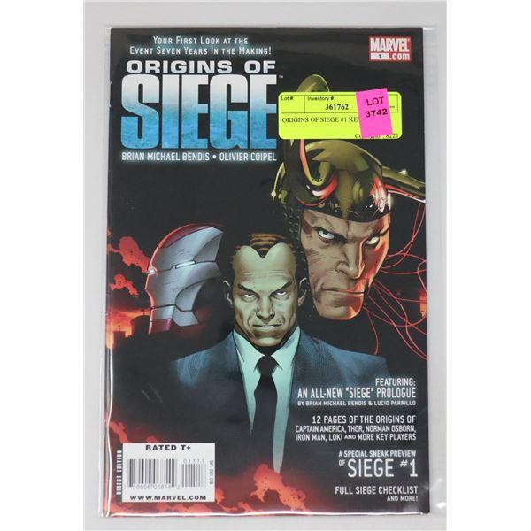 ORIGINS OF SIEGE #1 KEY ISSUE
