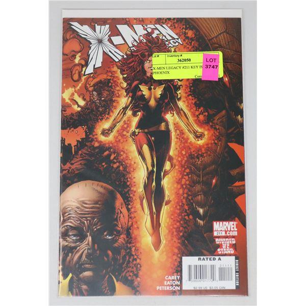 X-MEN LEGACY #211 KEY ISSUE PHOENIX