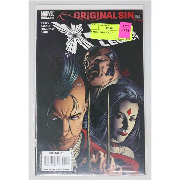X-MEN LEGACY #217