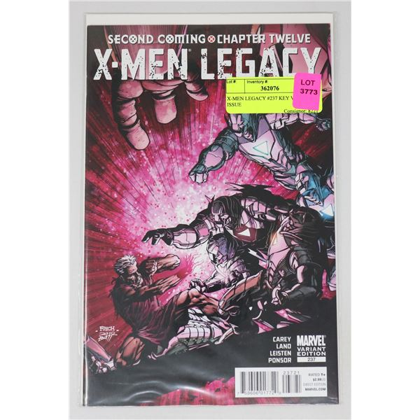 X-MEN LEGACY #237 KEY VARIANT ISSUE