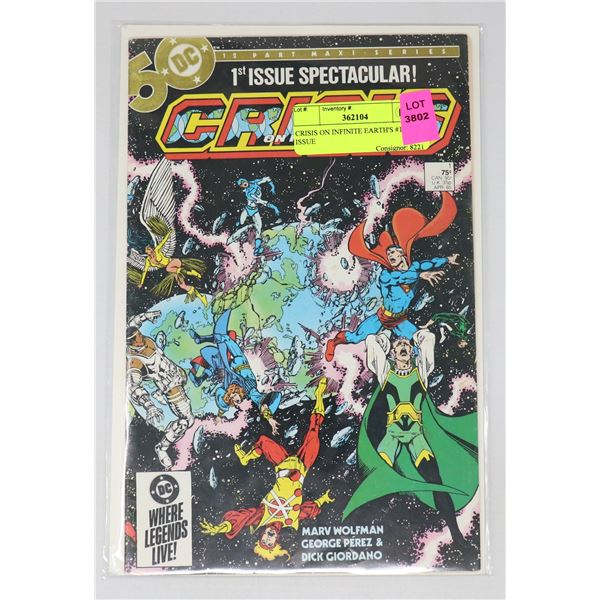 CRISIS ON INFINITE EARTH'S #1 KEY ISSUE