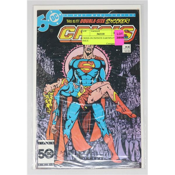 CRISIS ON INFINITE EARTH'S #7 KEY ISSUE