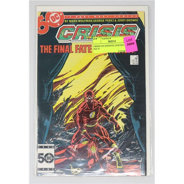 CRISIS ON INFINITE EARTH'S #8 KEY ISSUE