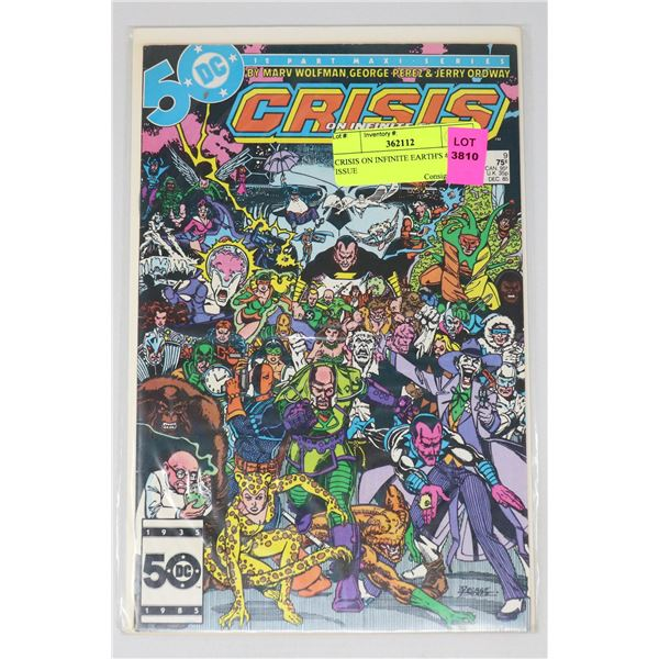 CRISIS ON INFINITE EARTH'S #9 KEY ISSUE