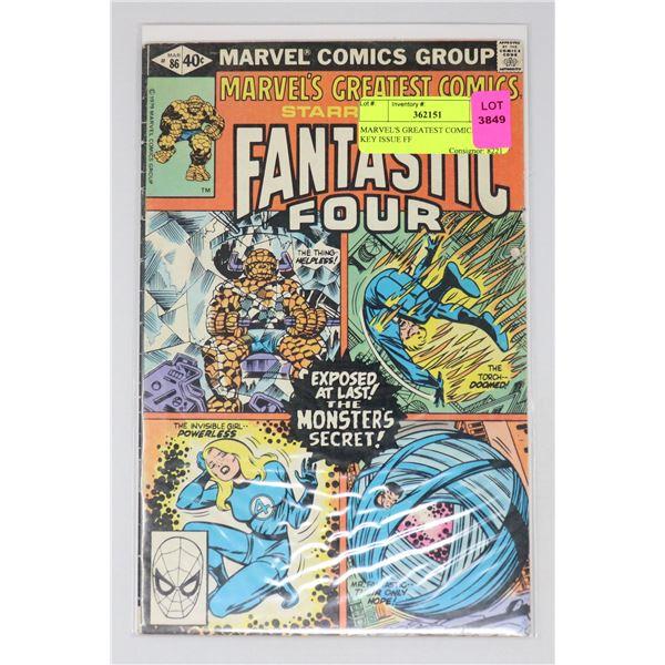 MARVEL'S GREATEST COMICS #86 KEY ISSUE FF