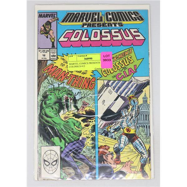 MARVEL COMICS PRESENTS COLOSSUS #12