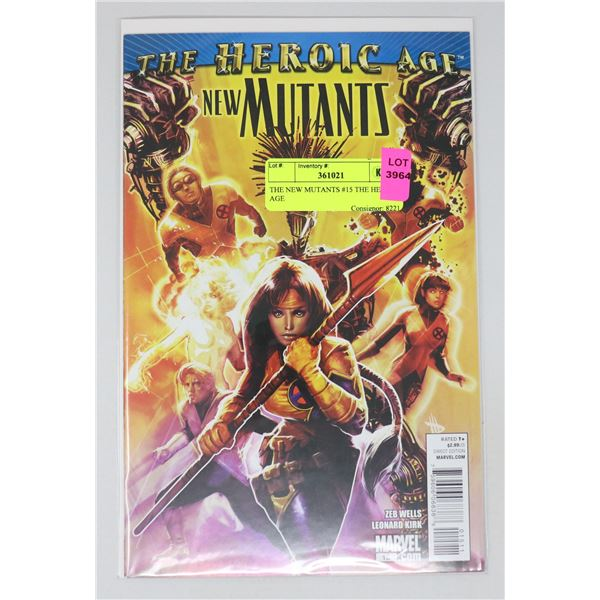 THE NEW MUTANTS #15 THE HEROIC AGE