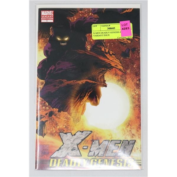 X-MEN DEADLY GENESIS #1 RARE VARIANT ISSUE