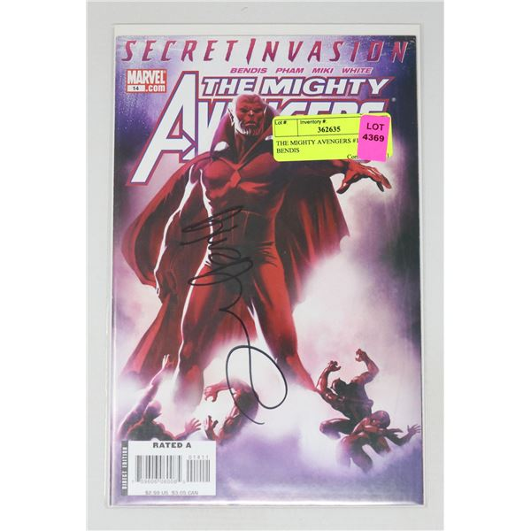 THE MIGHTY AVENGERS #14 SIGNED BENDIS