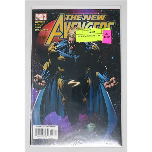 THE NEW AVENGERS #3 KEY ISSUE