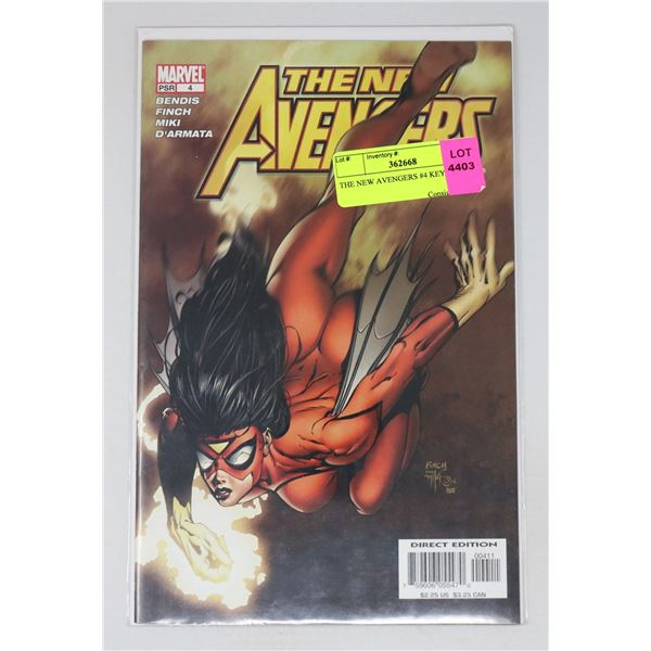 THE NEW AVENGERS #4 KEY ISSUE