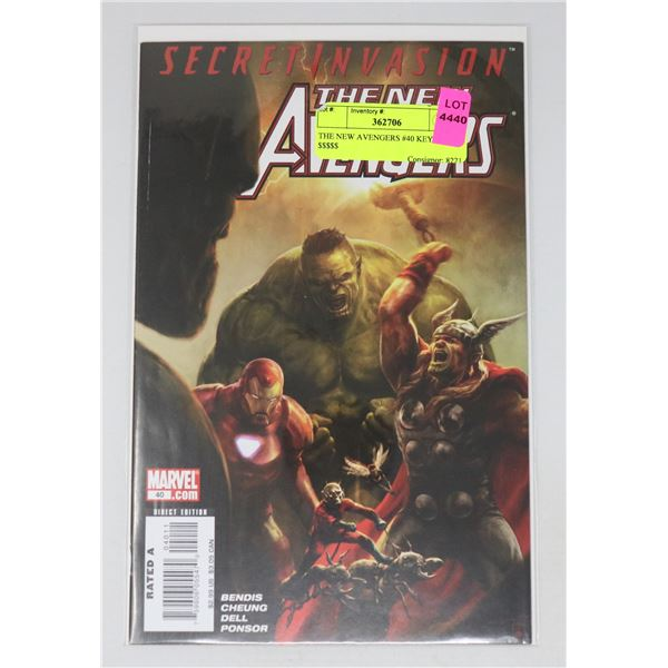 THE NEW AVENGERS #40 KEY ISSUE $$$$$