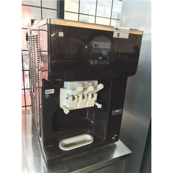 "TEOREMA 3 STATION SOFT SERVE ICE CREAM MACHINE WITH A  30""W X 36""D X 30""H STAINLESS STEEL DIAMOND"