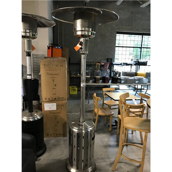 PARAMOUNT L10-SS-BK P STAINLESS STEEL PROPANE OUTDOOR PATIO HEATER IN BOX