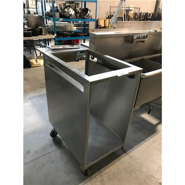 """STAINLESS STEEL MOBILE SERVING STATION 20""""W X 37""""D X 39""""H"""