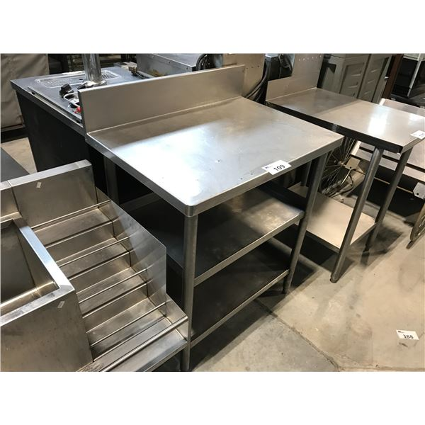 """STAINLESS STEEL PREP TABLE 33""""W X 24""""D X 37""""H"""
