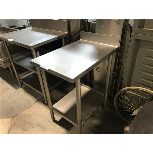 """QUEST STAINLESS STEEL PREP TABLE 20""""W X 30""""D X 36""""H"""