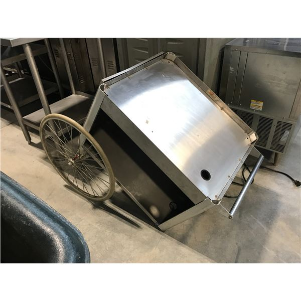 STAINLESS STEEL MOBILE SERVICE CART
